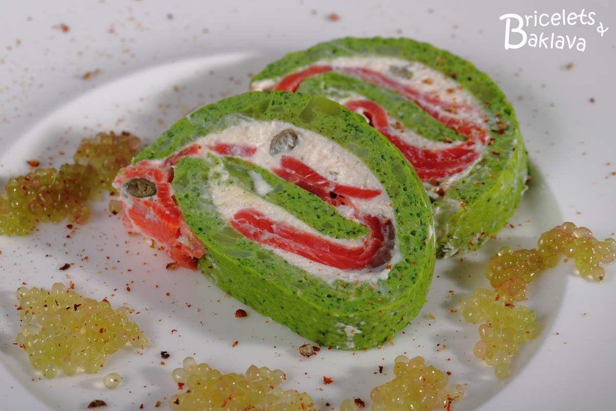 Biscuit roulé saumon-brocoli