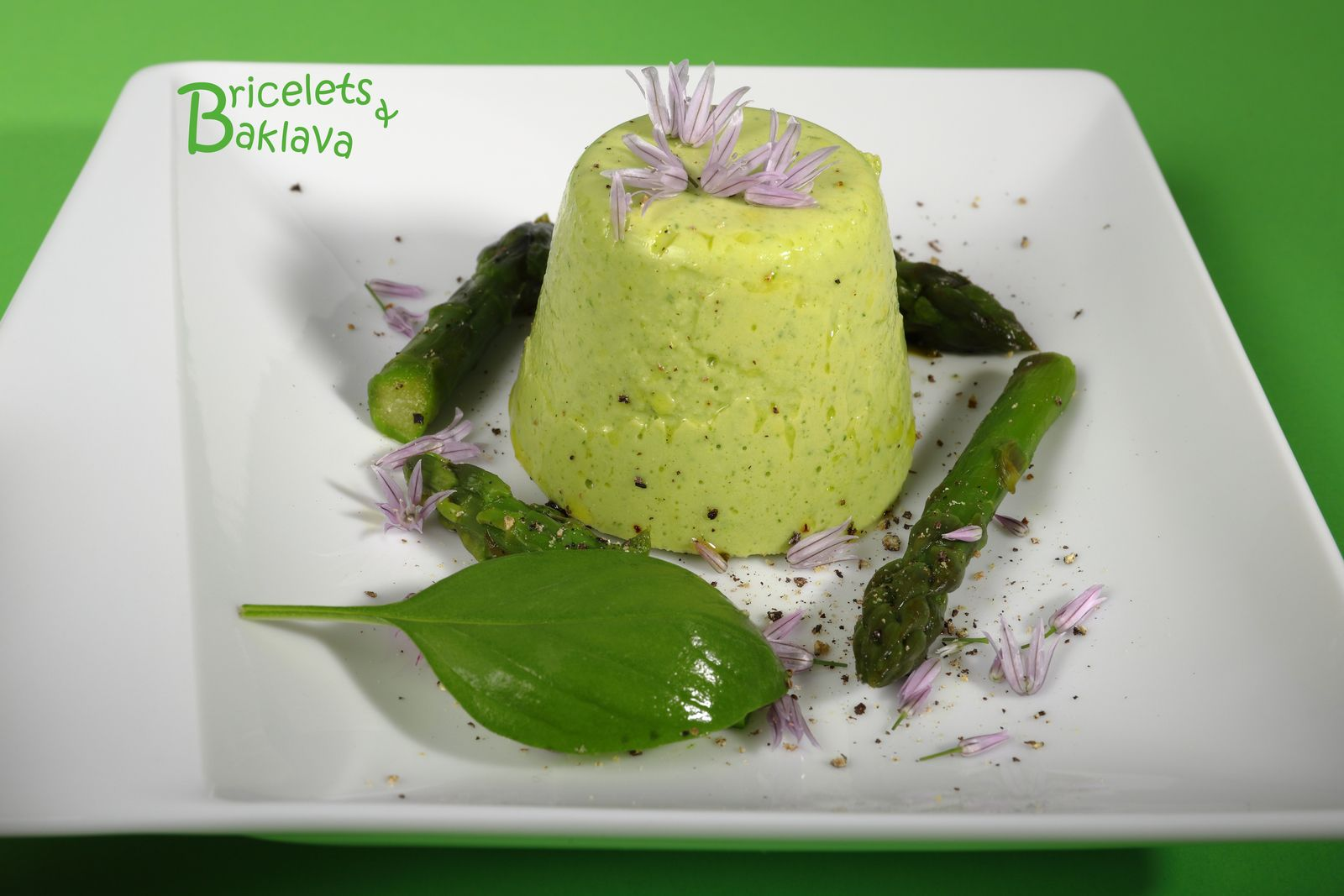 Timbales d'asperge aux fines herbes