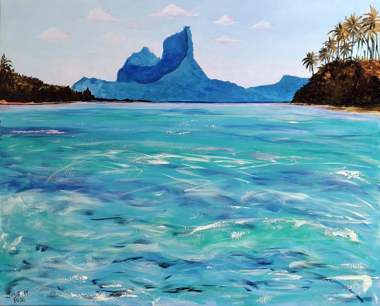 Bora-Bora, acrylique sur toile, 81 x 100 cm