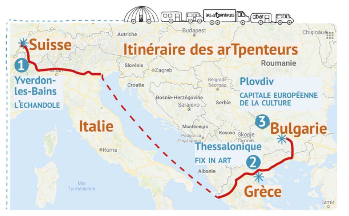 Itinerary from Belgium to Plovdiv