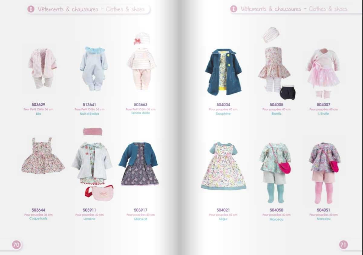 Catalogue Petitcollin 2017 • Marceau bleu ref 504050 et Marceau rose ref 504051