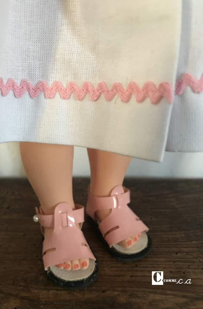 Sandales vernies roses Petitcollin • Ref 8002025