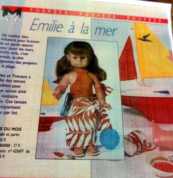 Modes & Travaux • Juillet 1987 (cette double page poupée est une des rares qui n'est pas en ma possession, ces images proviennent du net)