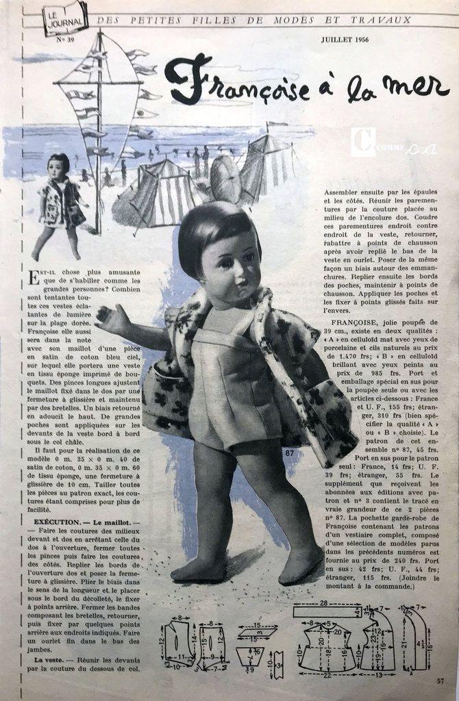 Modes & Travaux • Juillet 1956