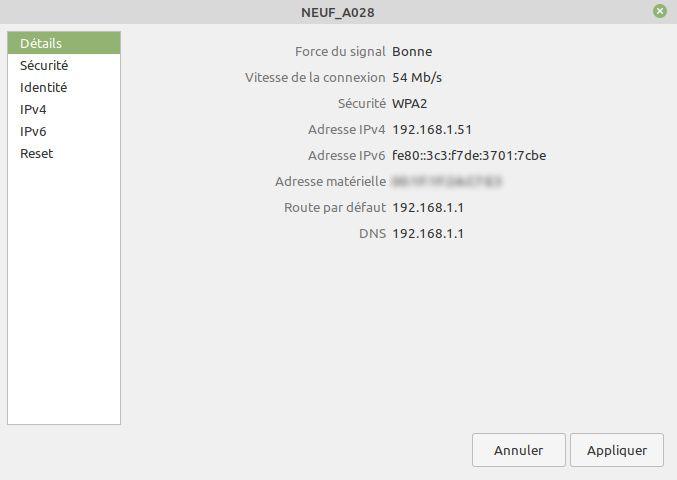 Configurer une IP fixe avec Linux Mint - partie 2