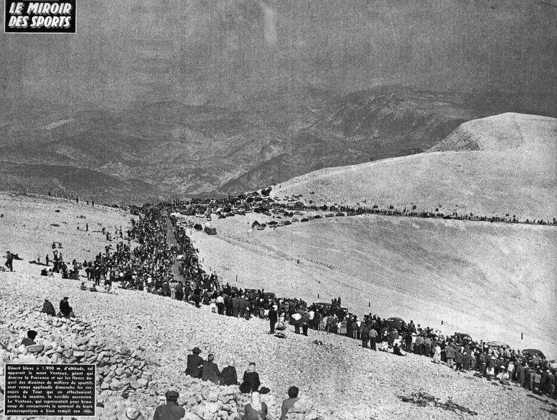 Mont Ventoux, contre-la-montre du Tour de France 1958