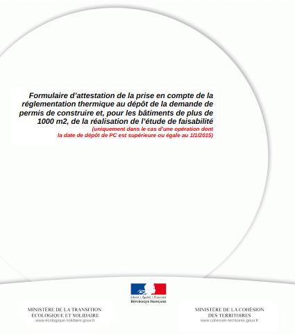 Page de garde de l'attestation Bbio (PCMI14-1)