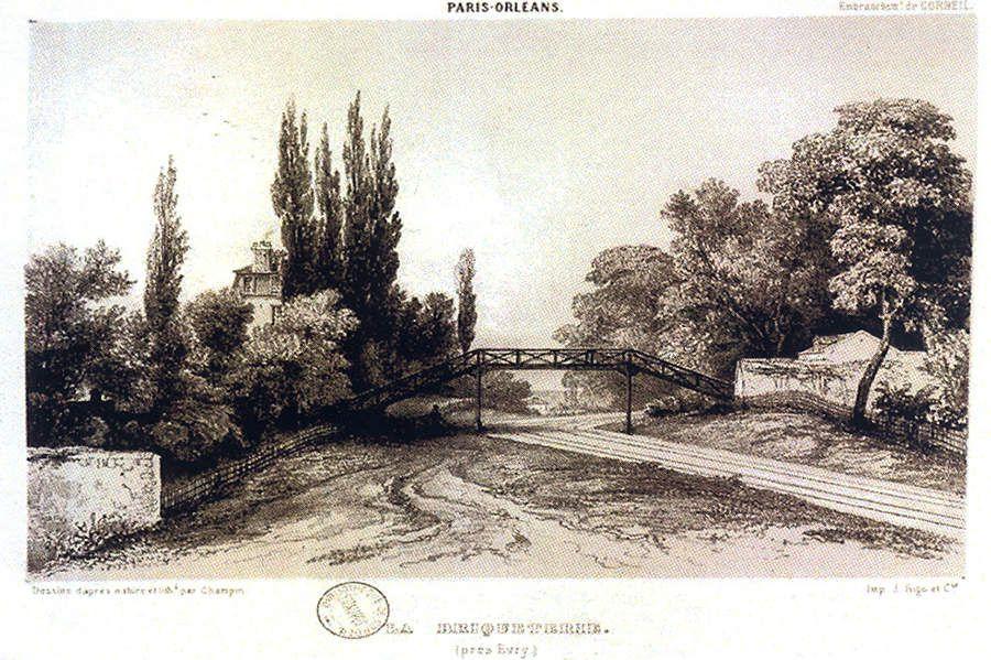 Passerelle de la Briqueterie (Grand-Bourg) - Dessin de Champin