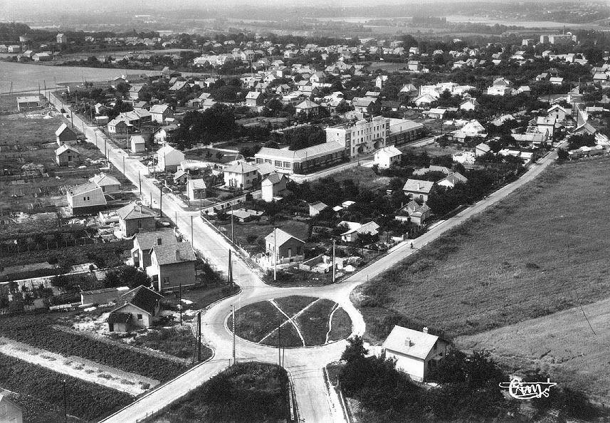 Vue aérienne de l'école du Domaine