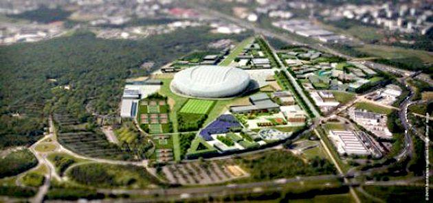 Vue d'ensemble du projet (maleureusement avorté) du futur grand stade de rugby
