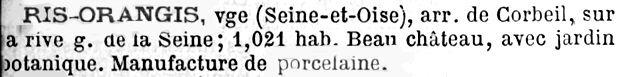 En 1889, allusion à une porcelainerie dans le Dictionnaire Général de biographie et d'histoire