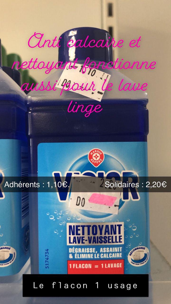 Produit nettoyage lave-vaisselle 1 usage (fontionne aussi pour le lave-linge)