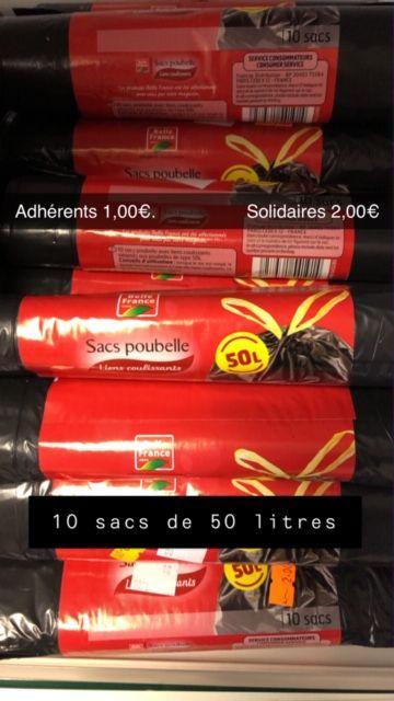 10 sacs poubelles de 50 litres