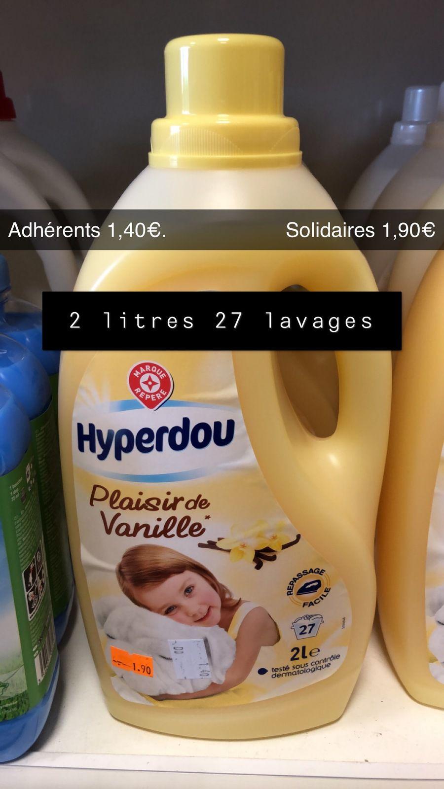 Assouplissant Vanille 2 litres - 27 lavages