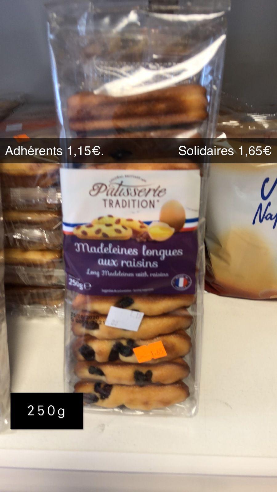 Madeleines aux raisins - 250g