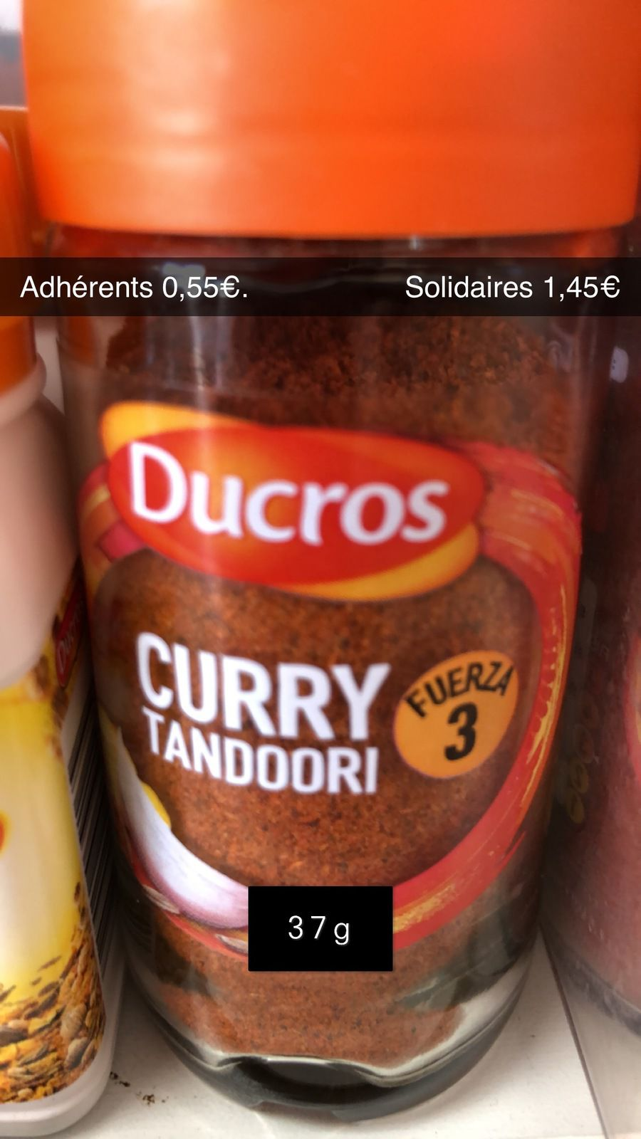 Curry Tandoori - 37g