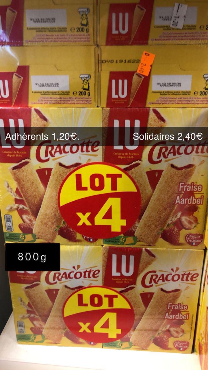 Lot de 4 paquets de Cracottes à la fraise - 200g - DLUO Dépassée