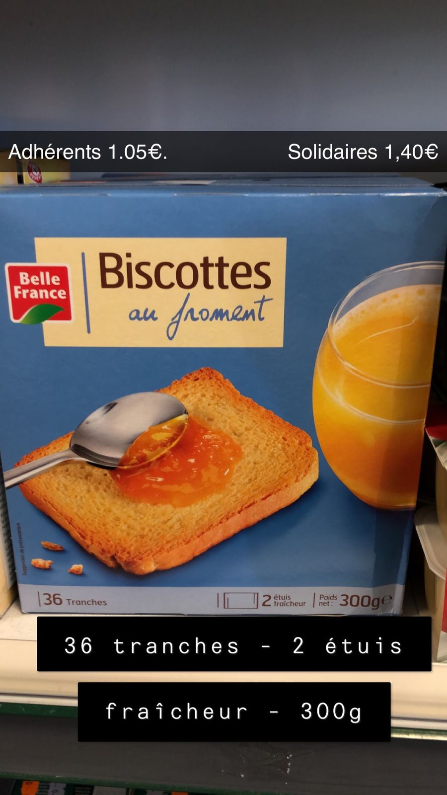 Biscottes au froment - 300g - 36 tranches