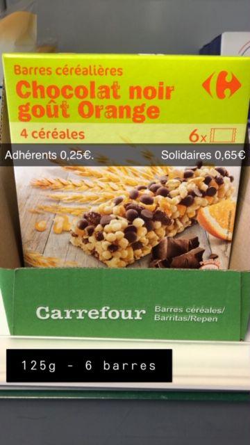 6 Barres de céréales Orange et Chocolat - 125g