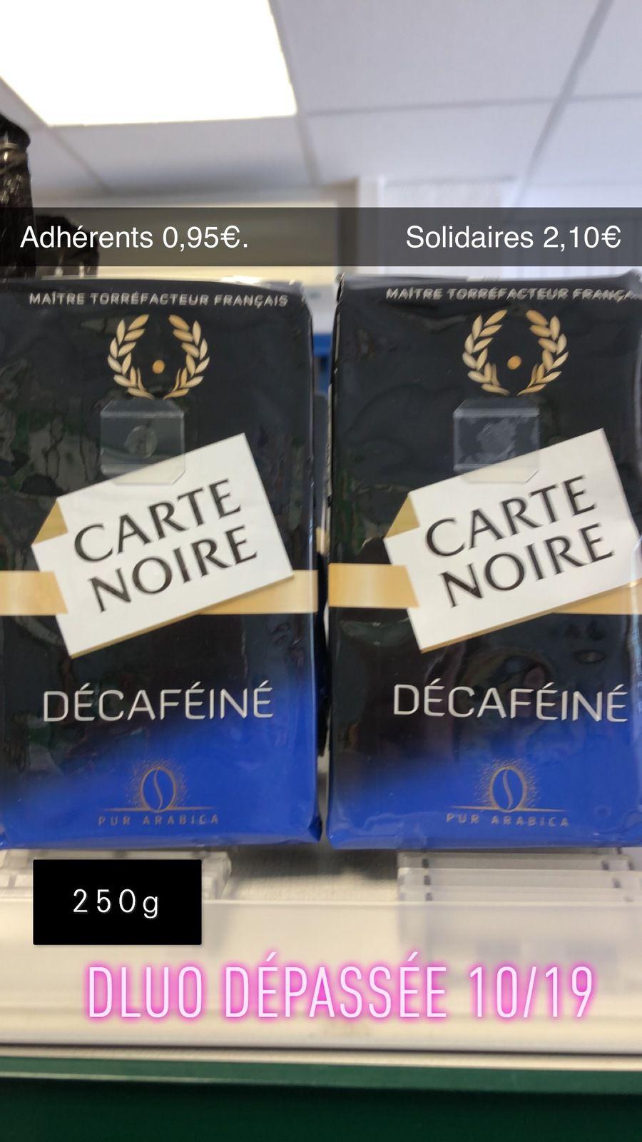 Café Carte Noire Décafeiné - 250 g - DLUO Dépassée