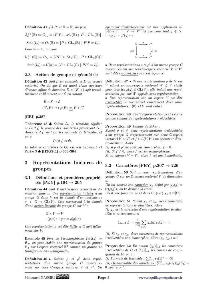 101 - Groupe opérant sur un ensemble. Exemples et applications.