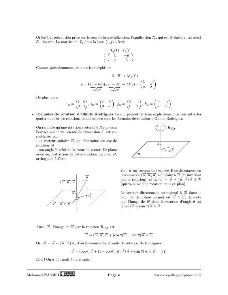 SO3(ℝ) et les quaternions