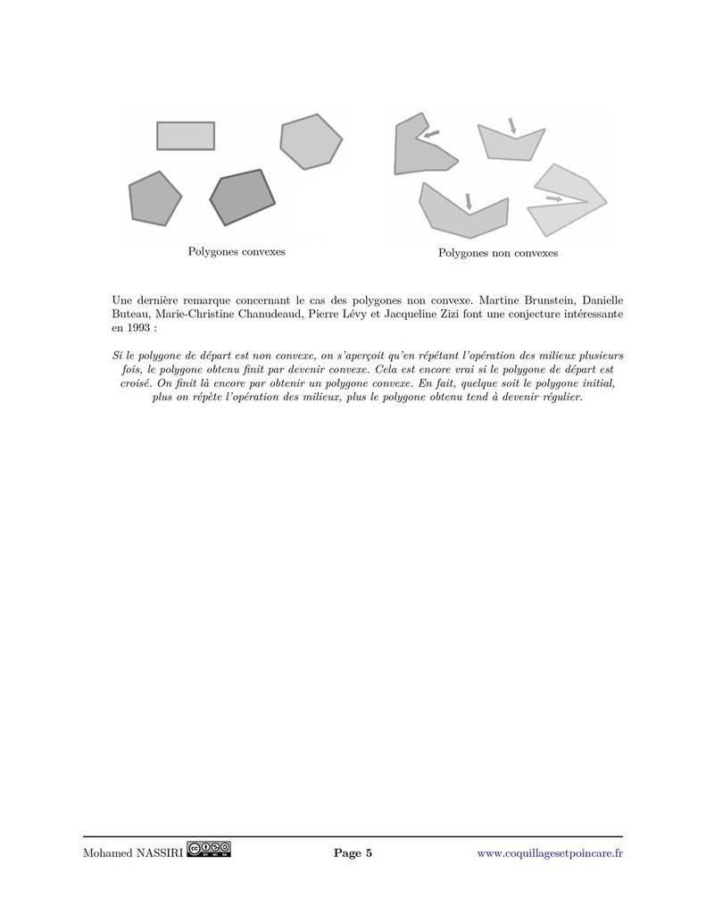 Suites de polygones