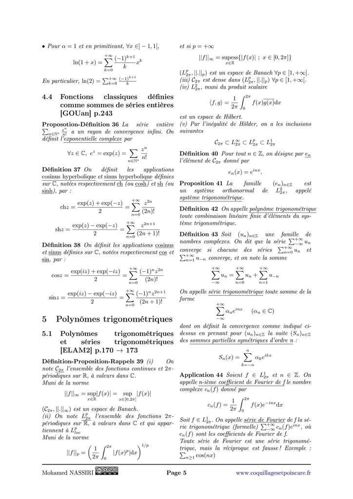209 - Approximation d'une fonction par des polynômes et des polynômes trigonométriques. Exemples et applications.