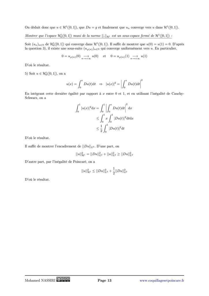 201 - Espaces de fonctions. Exemples et applications.
