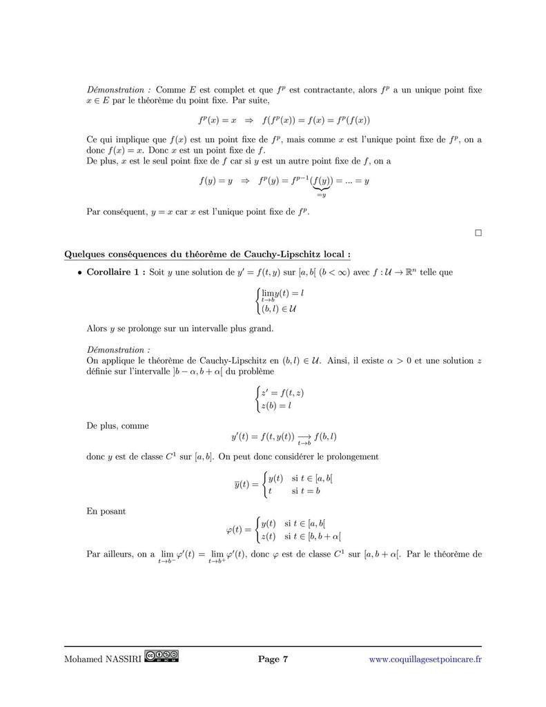 Théorème de Cauchy-Lipschitz local
