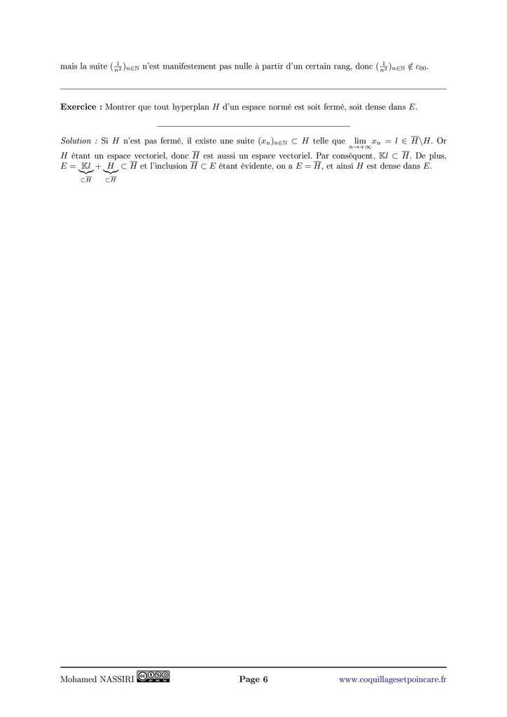 208 - Espaces vectoriels normés, applications linéaires continues. Exemples.