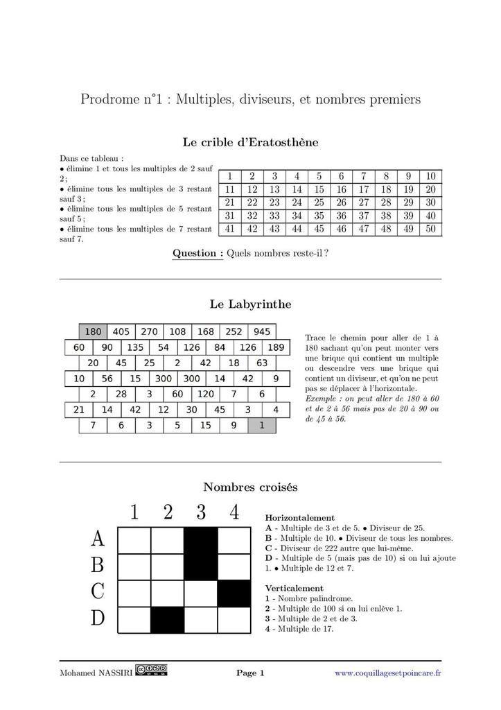 Prodrome n°1 - Correction Prodrome n°1
