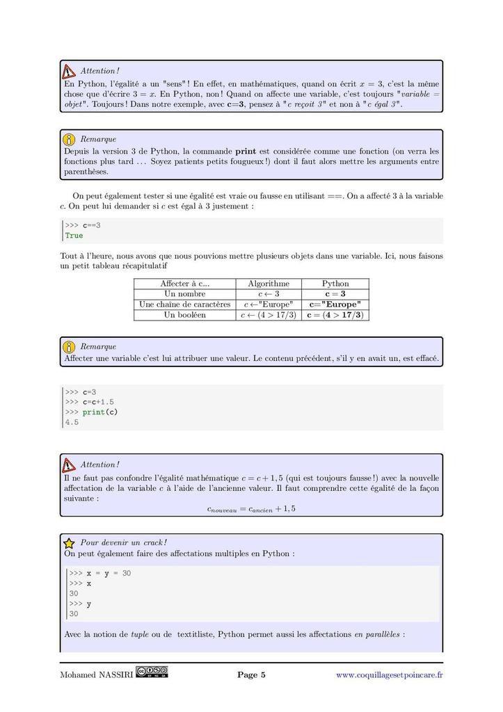 Algorithme 1 - Introduction : le cours complet avec démonstrations (9 pages)