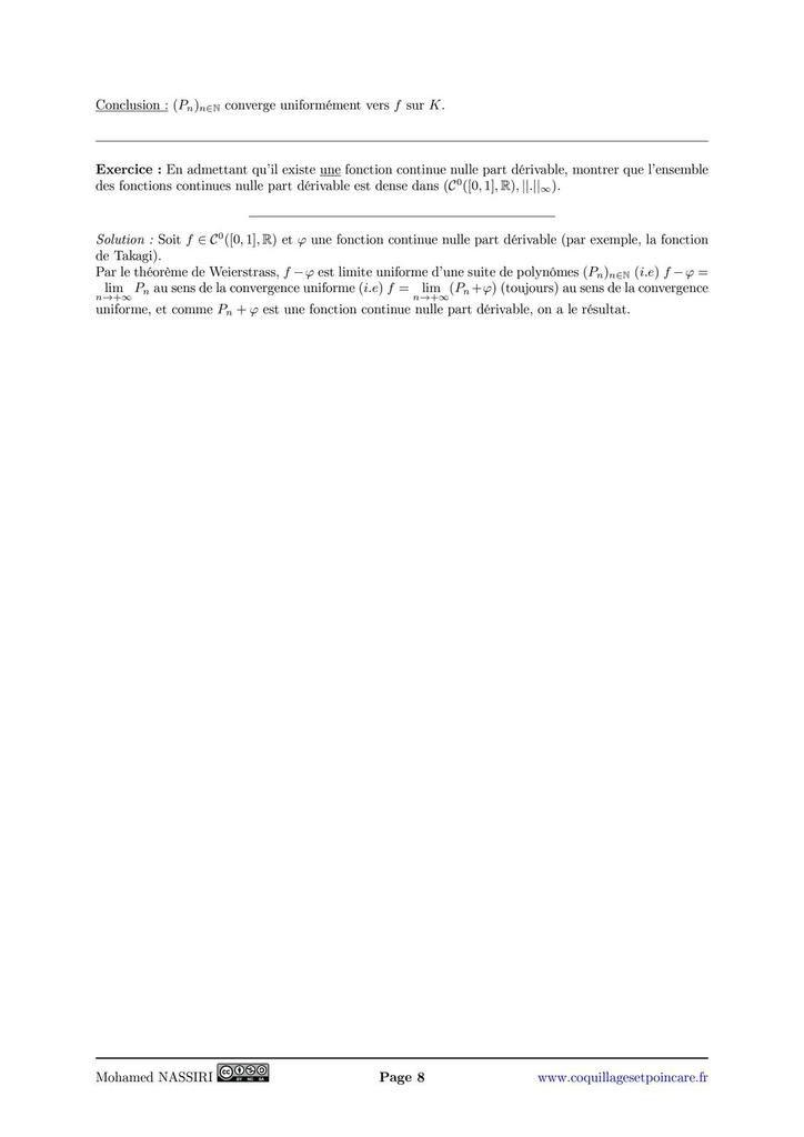 228 - Continuité et dérivabilité des fonctions réelles d'une variable réelle. Exemples et applications.