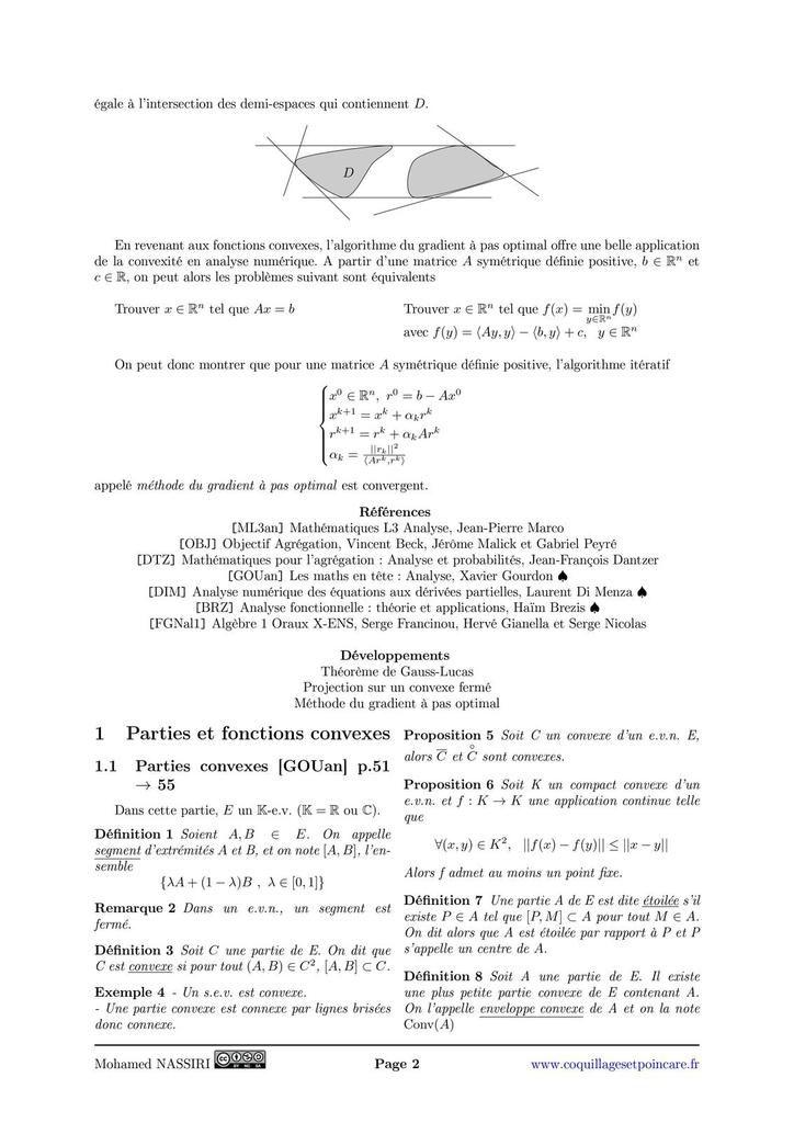 253 - Utilisation de la notion de convexité en analyse.