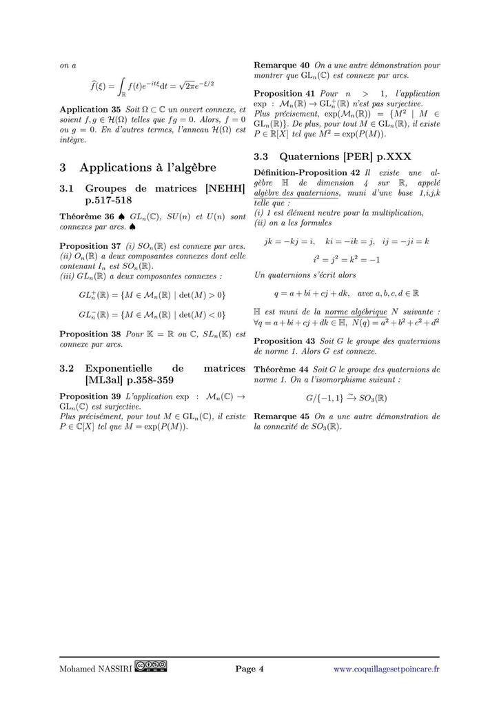 204 - Connexité. Exemples et applications.