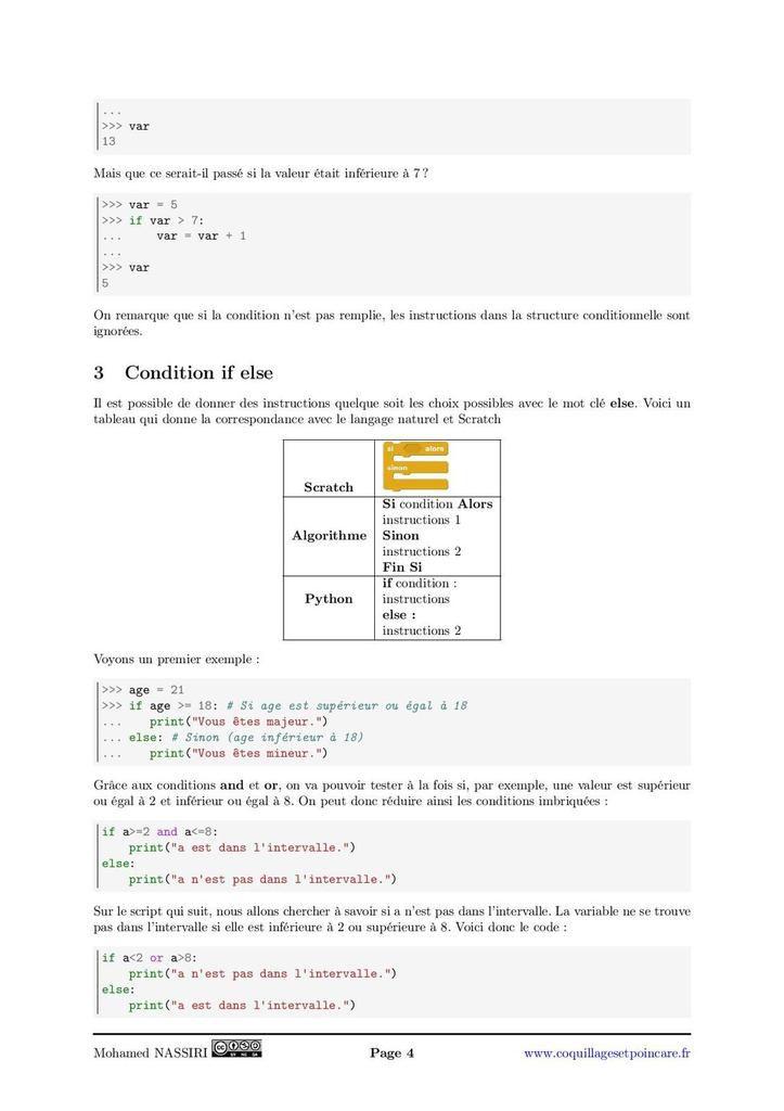 """Algorithme 2 - Boucle """"if"""" : le cours complet avec démonstrations (5 pages)"""