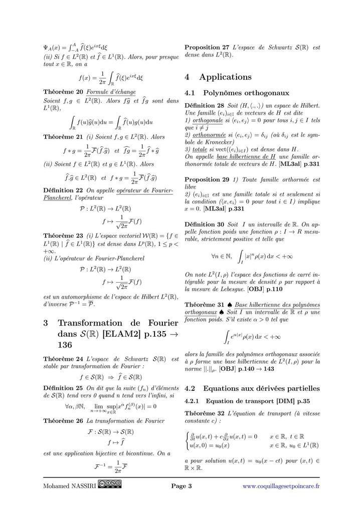 250 - Transformation de Fourier. Applications.