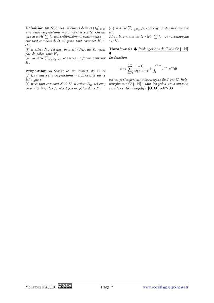 245 - Fonctions holomorphes sur un ouvert de ℂ. Exemples et applications.