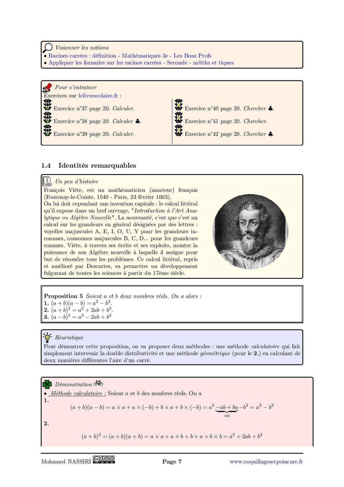 Utiliser le calcul littéral, résolutions d'inéquations : Le cours complet avec démonstrations (15 pages)