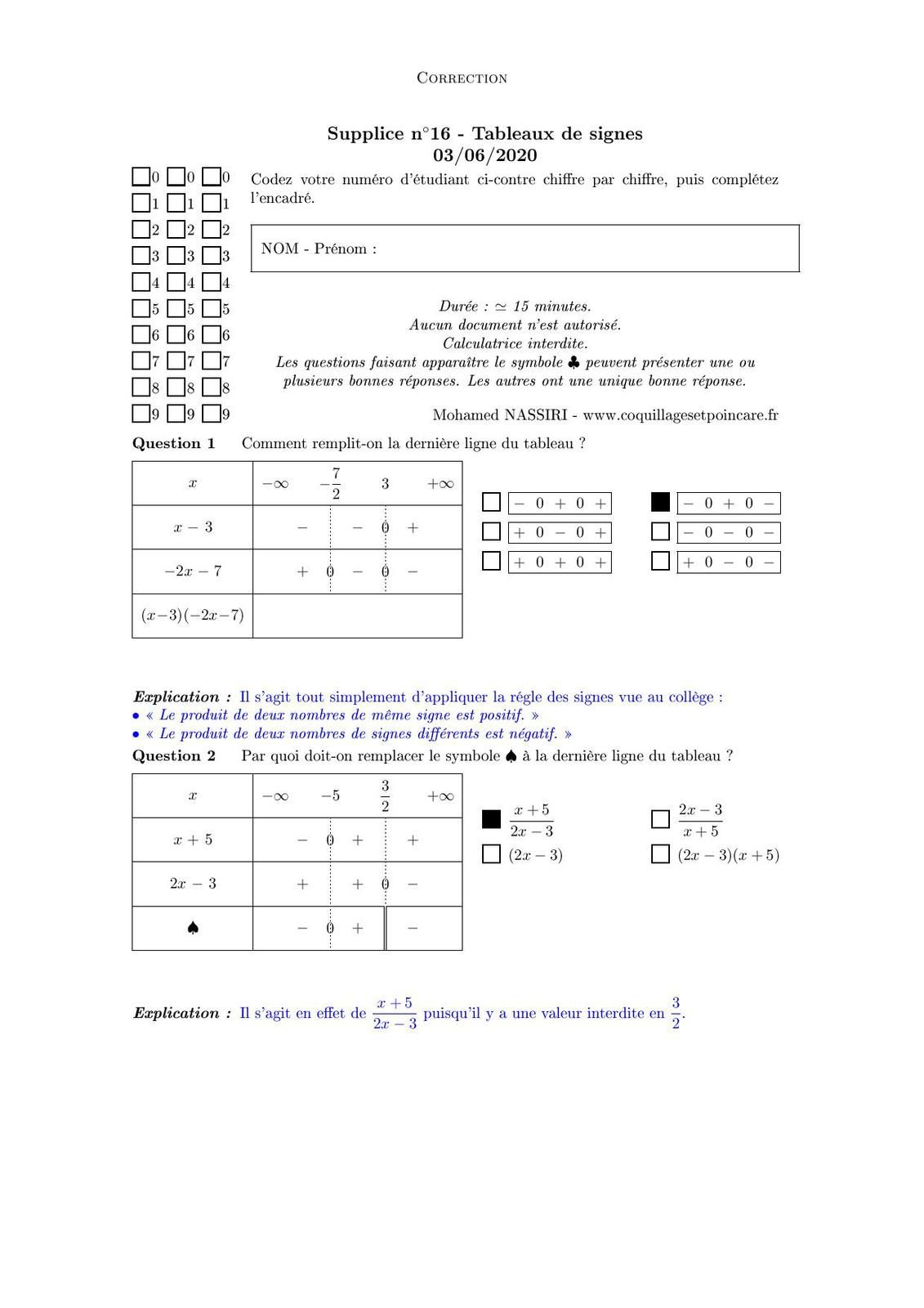 Supplice n°16-Correction Supplice n°16