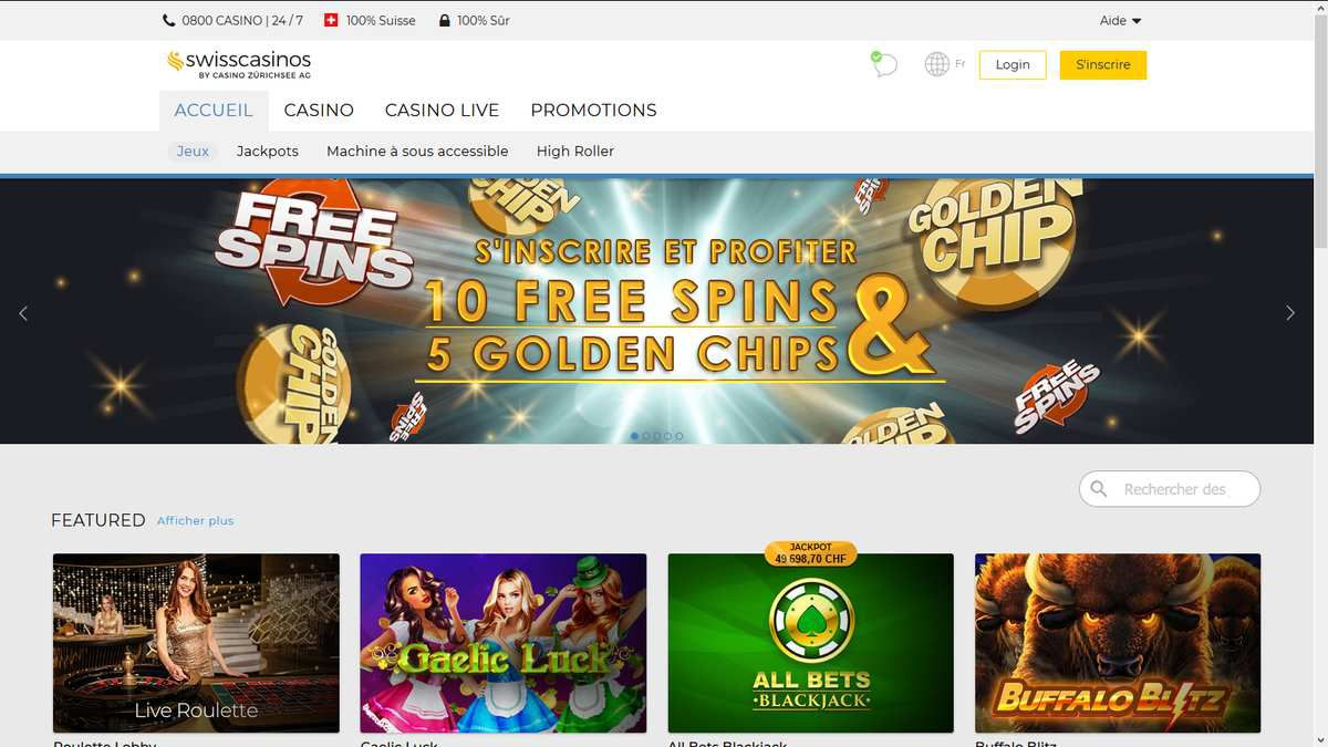 Swiss Casinos Online - casino en ligne légal en Suisse