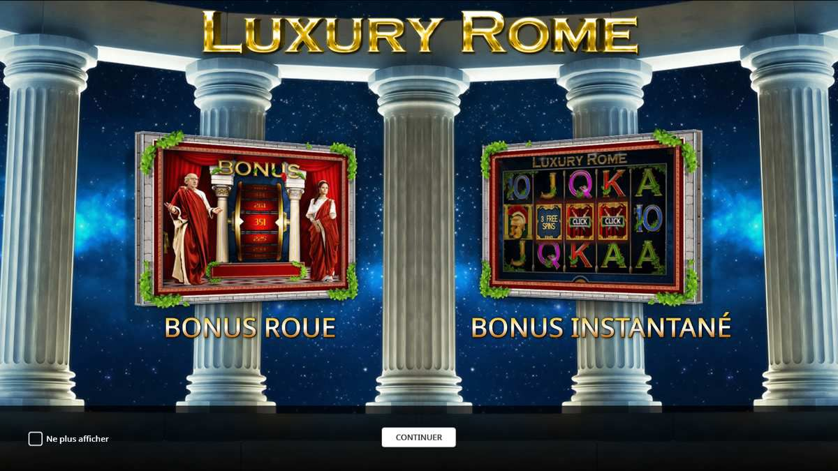machine à sous Luxury Rome Roue du bonus sur Casino777.ch