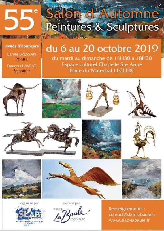 La Baule - 55è Salon d'automne Peintures et Sculptures - jusqu'au 20 octobre 2019