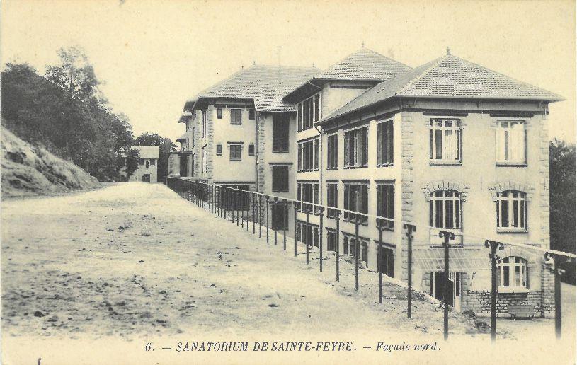 © MLR - Collection particulière - Sanatorium de Sainte Feyre - Façcade Nord
