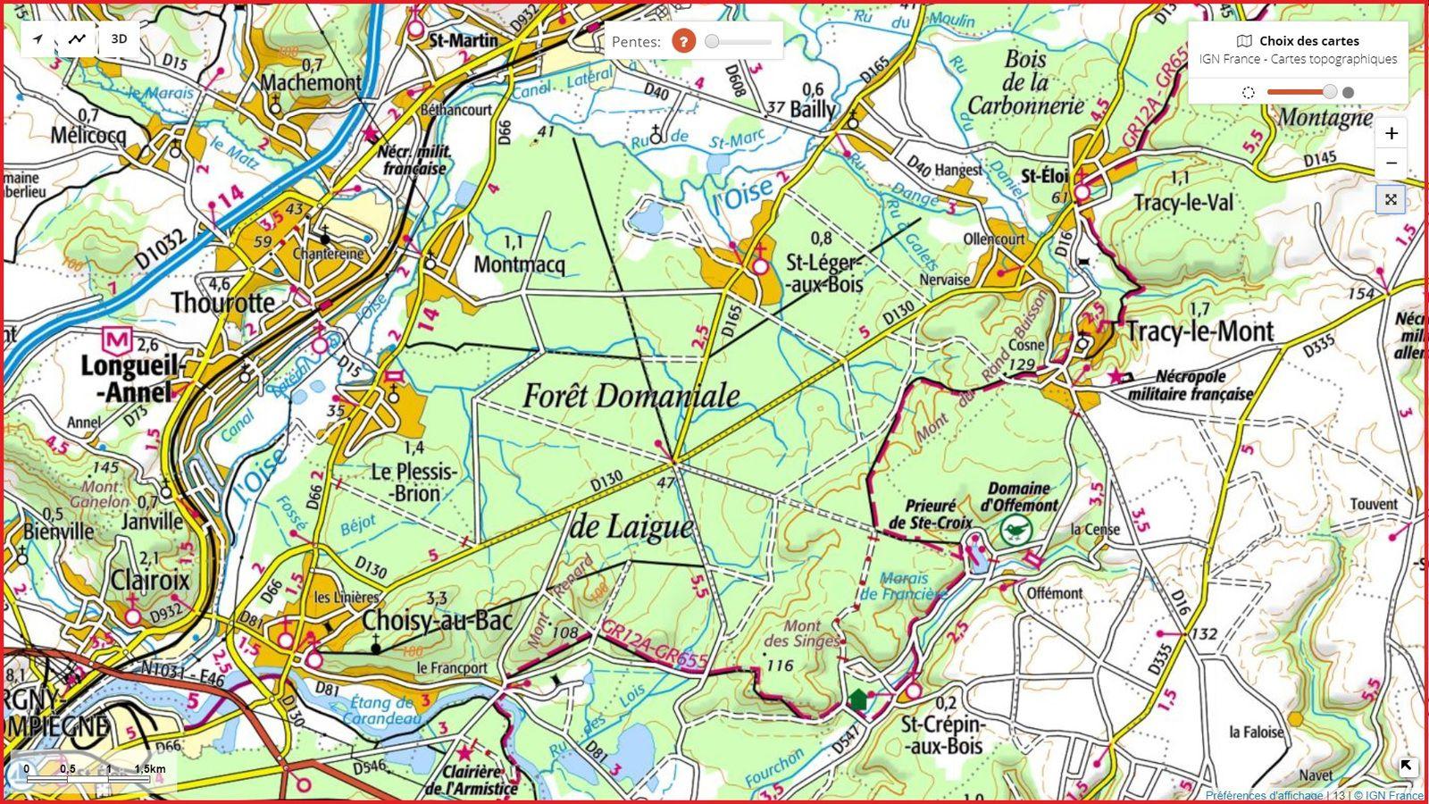 carrefour_Chemin de Rethondes à St-Crépin-aux-Bois_Chemin du Tordoir