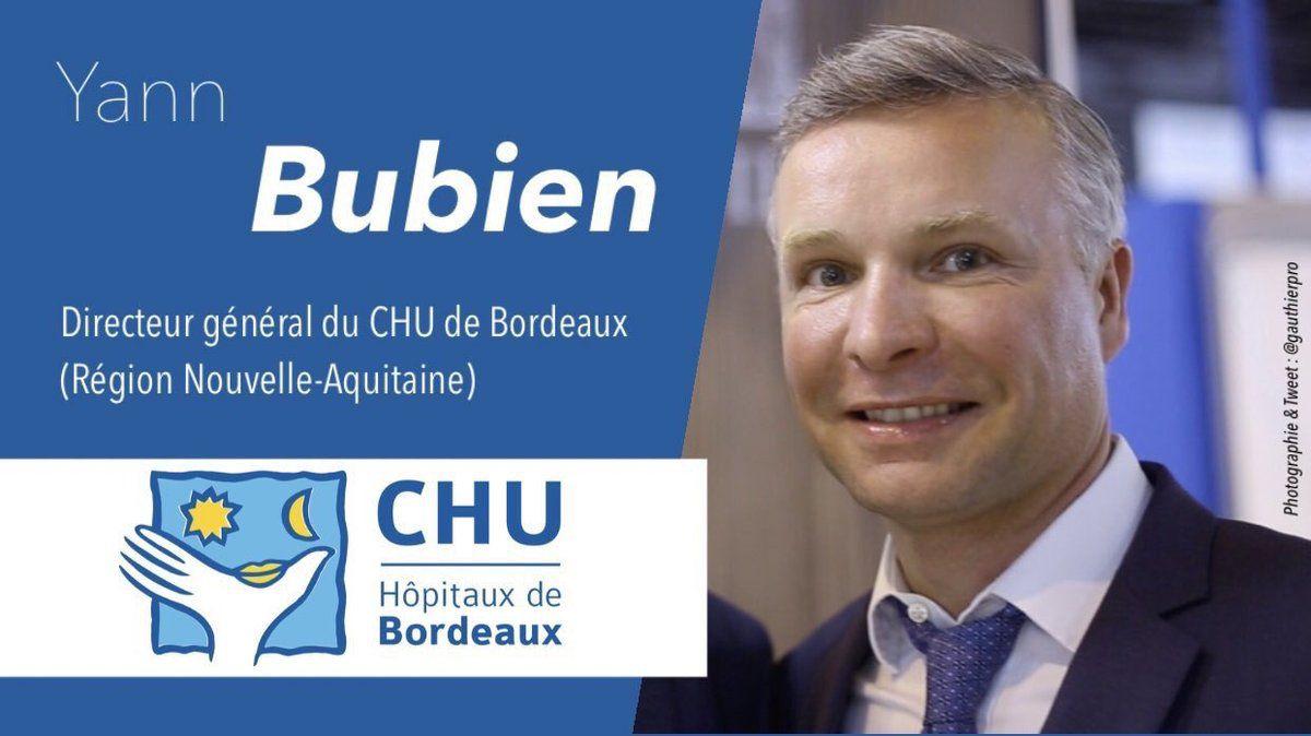 Yann Bubien nommé directeur général du CHU de Bordeaux