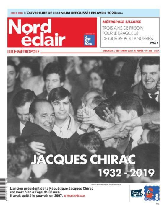 """""""Sans chichi"""": découvrez les unes de la presse au lendemain de la mort de Jacques Chirac"""