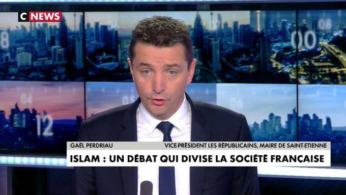 Gaël Perdriau (LR) accuse Eric Zemmour d'attiser la haine des musulmans sur l'antenne de CNews