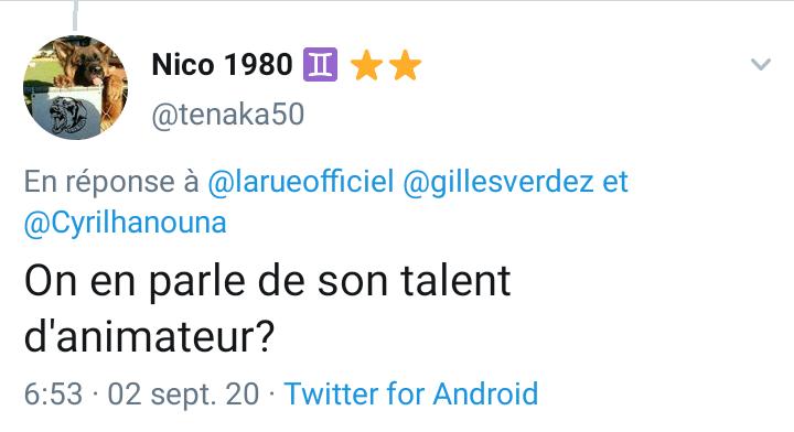 Les twittos n'ont pas apprécié l'attaque de Gilles Verdez contre Laurence Boccolini
